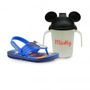Sandália Mickey E Minnie Azul Azul - 22165