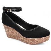 Sapato Anabela Moleca Preto - 5289101
