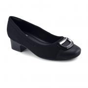 Sapato Comfortflex Salto Baixo Preto - 2086303