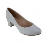 Sapato Salto Baixo Beira Rio Feminino Napa Branco - 4777309