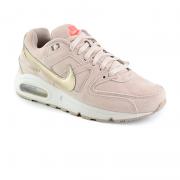 Tênis Feminino Nike Air Max Command Camurça Bege Dourado - 718896-228