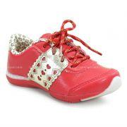 Tênis Infantil Kidy Flex Vermelho Ouro - 1650083