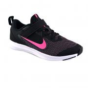 Tênis Infantil Nike Downshifter Preto Rosa Branco - Ar4138-003