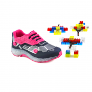 Tênis Kidy Blocks Marinho Pink - 0821001