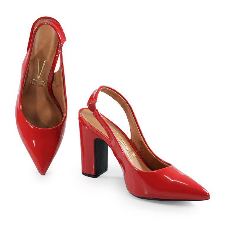 Chanel Vizzano Salto Alto Verniz Vermelho - 1285103