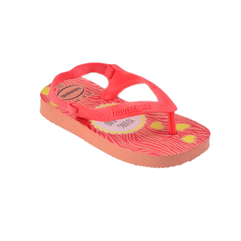 Chinelo Baby Pets Havaianas Infantil Meninas Rosa Seda Coral-4137063