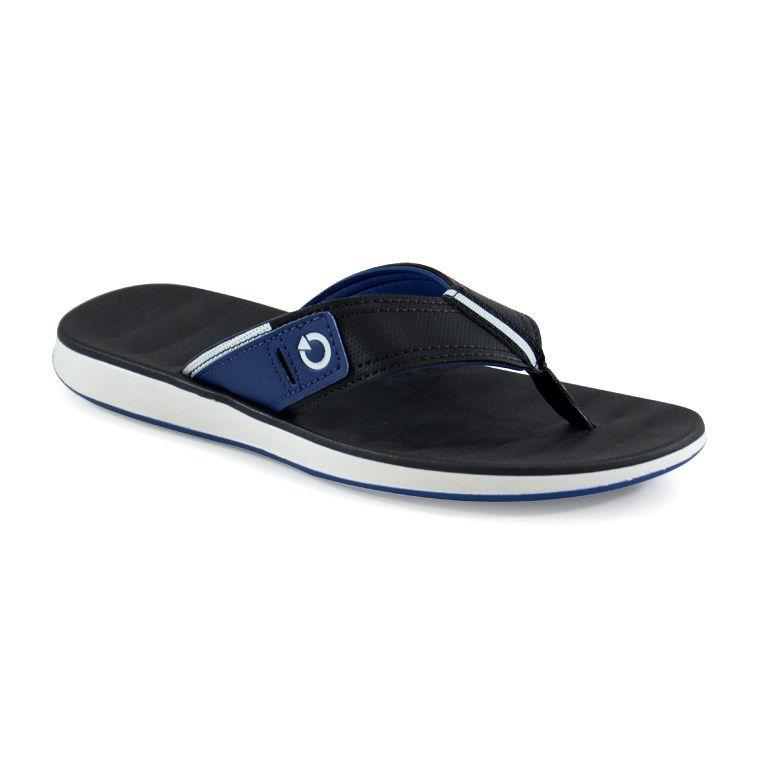 Chinelo Cartago Malaga Branco Preto Azul - 10954