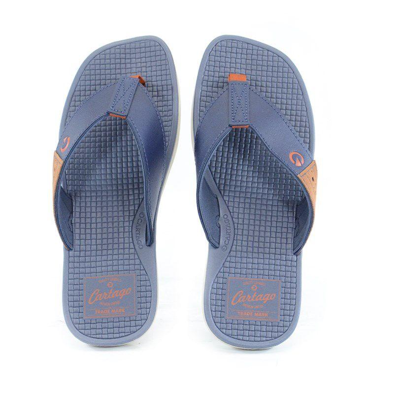 Chinelo Cartago Mali Ix Bege Azul - 11233