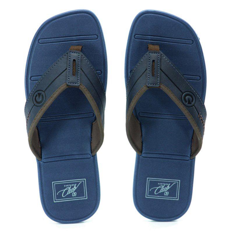 Chinelo Cartago Mali Viii Cinza Azul Marrom - 11115