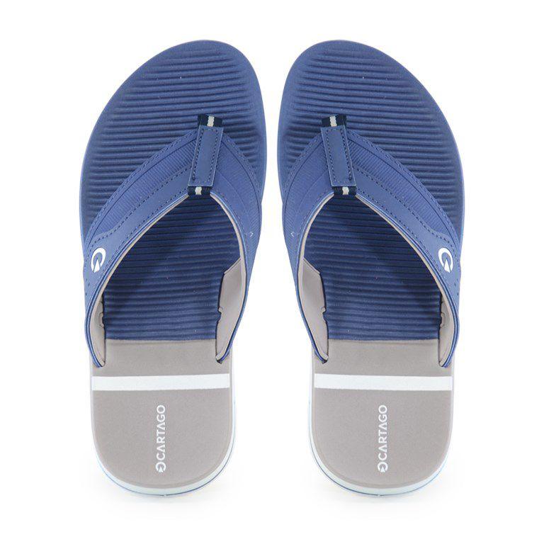 Chinelo Cartago Sevilha Branco Azul Cinza - 1133