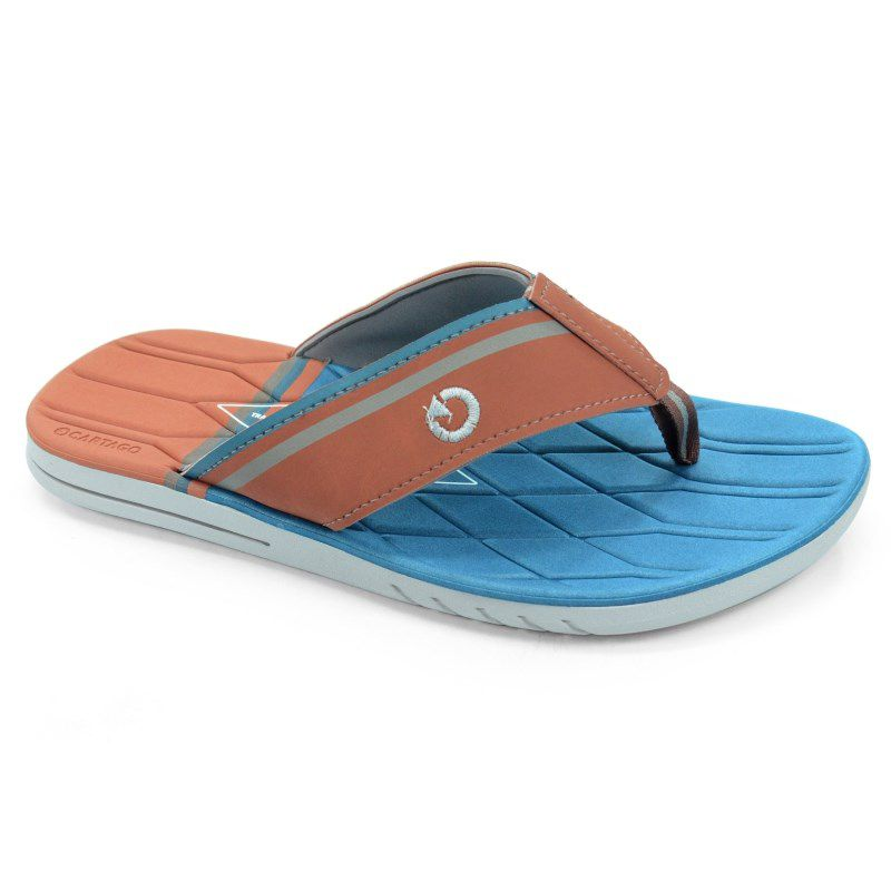 Chinelo Cartago Sevilha Cinza Marrom Azul - 11083
