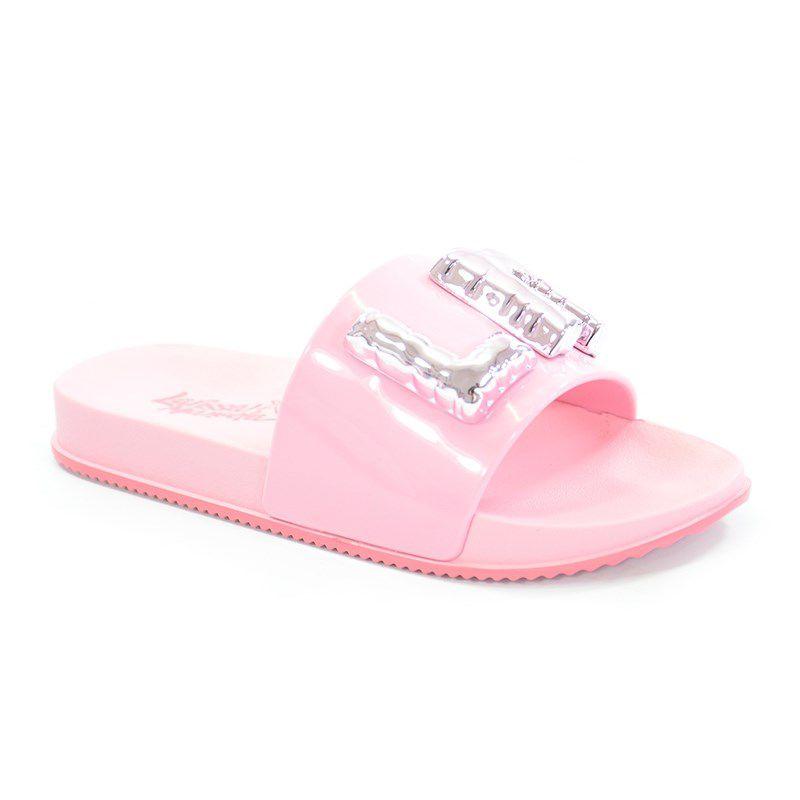 Chinelo Grendene Larissa Manoela Slide Power Infantil Meninas Rosa Rosa-21728