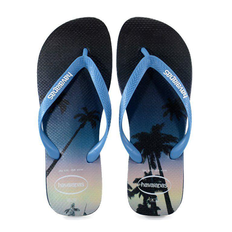 Chinelo Havaianas Hype Marinho Azul Aço - 4127920