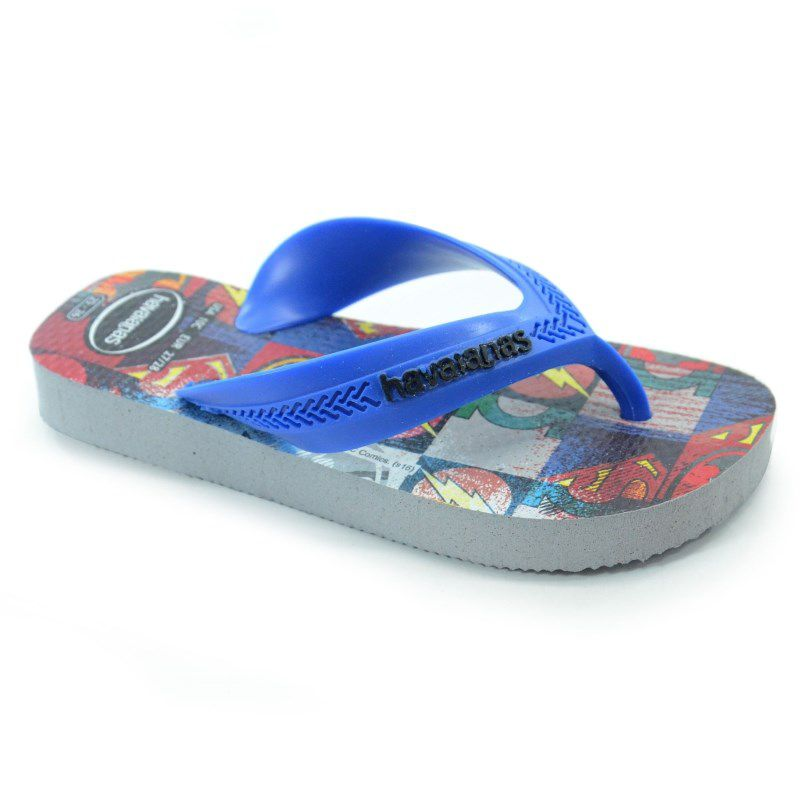 Chinelo Havaianas Kids Max Herois Cinza Gelo - 4130302
