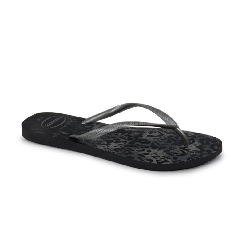 Chinelo Havaianas Slim Animals Cinza Prata - 4103352