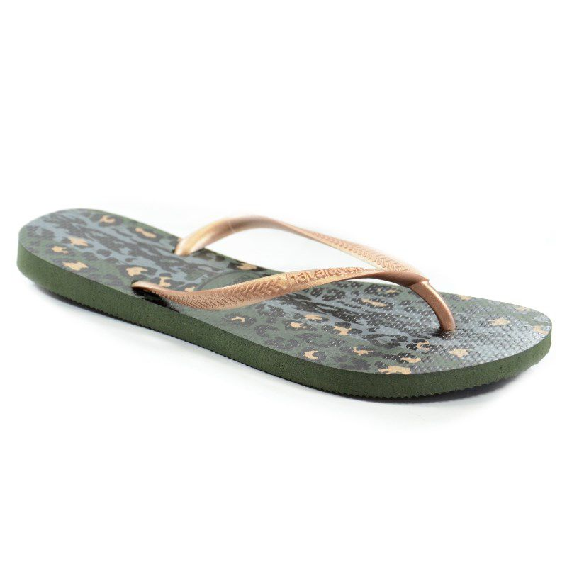 Chinelo Havaianas Slim Animals Verde Olive - 4103352