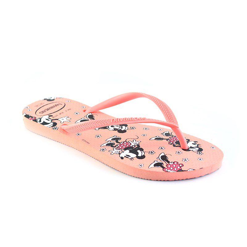 Chinelo Havaianas Slim Disney Rosa Seda - 4141203
