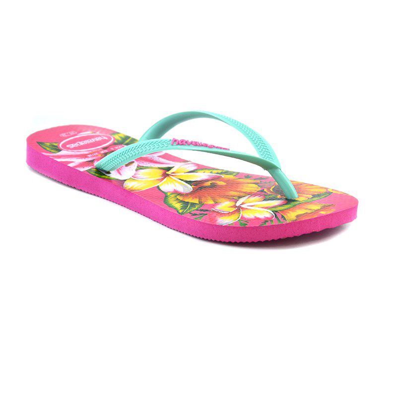 Chinelo Havaianas Slim Floral Rosa Hollywood - 4129848