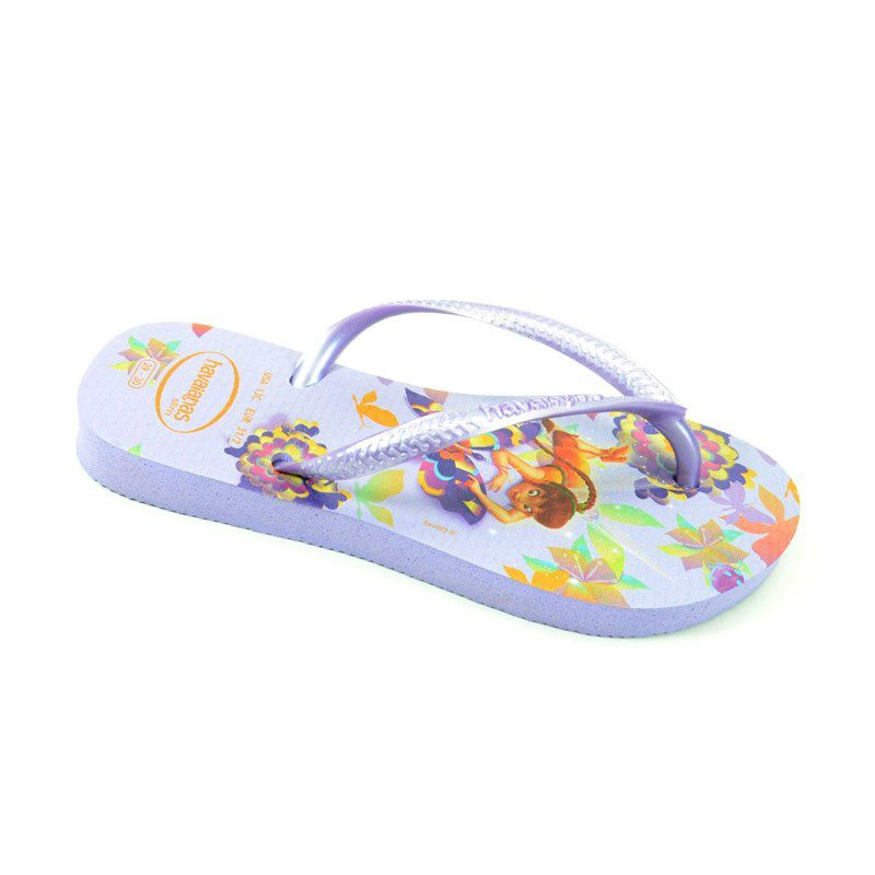Chinelo Havaianas Slim Tinkerbell Infantil Meninas Lavanda-4123439