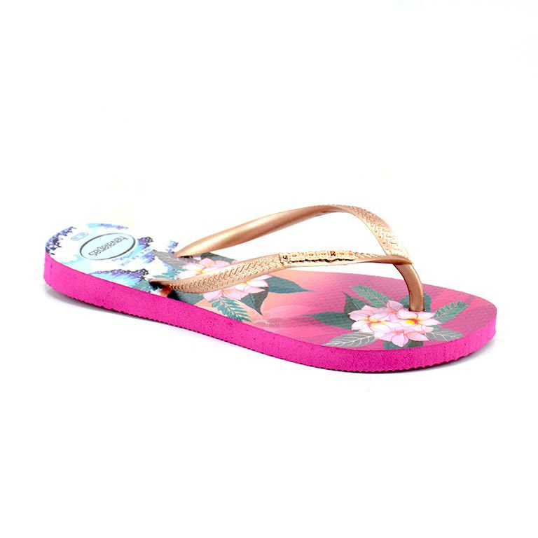 Chinelo Havaianas Slim Trop Sunset Rosa Hollywwod - 4143981