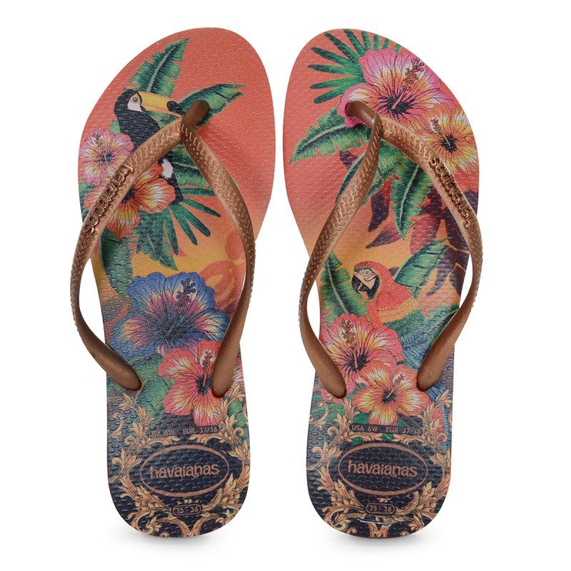 Chinelo Havaianas Slim Tropical Abobora Cobre Escuro - 4122111