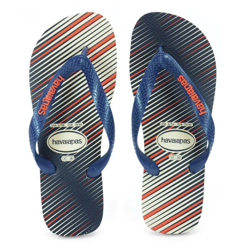 Chinelo Havaianas Trend Bege Palha Marinho - 4103358