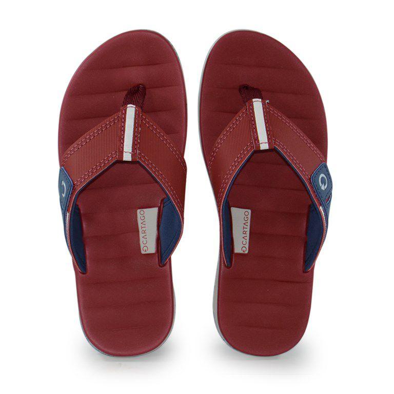 Chinelo Infantil Cartago Malaga Branco Vermelho Azul - 10995