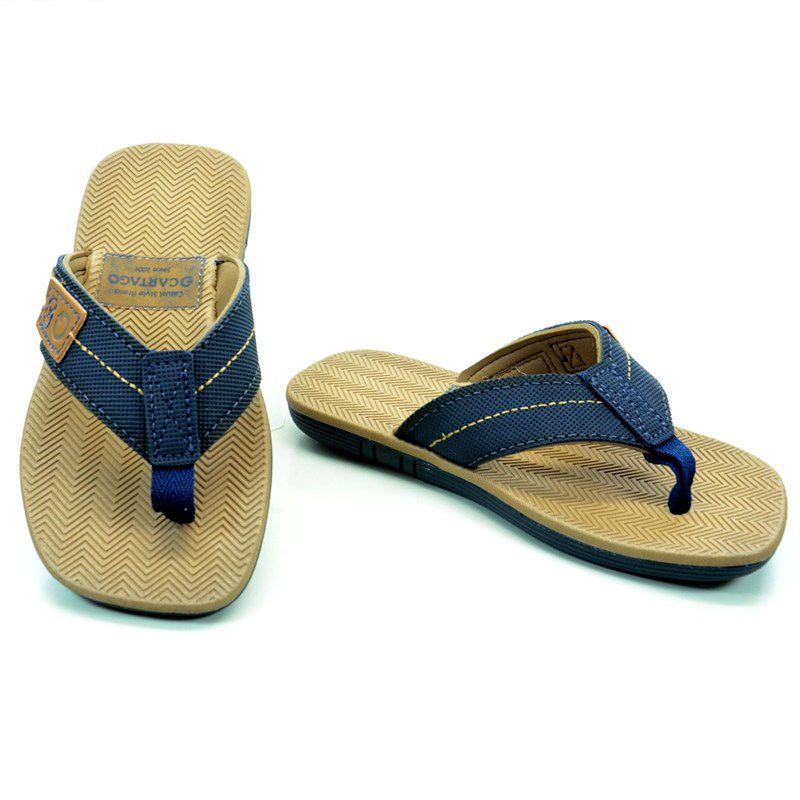 Chinelo  Infantil Cartago Mali Dedo Azul Bege - 10863