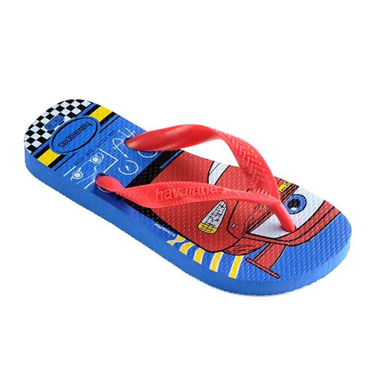 Chinelo Infantil Havaianas Kids Cars Azul Estrela Vermelho - 4123463
