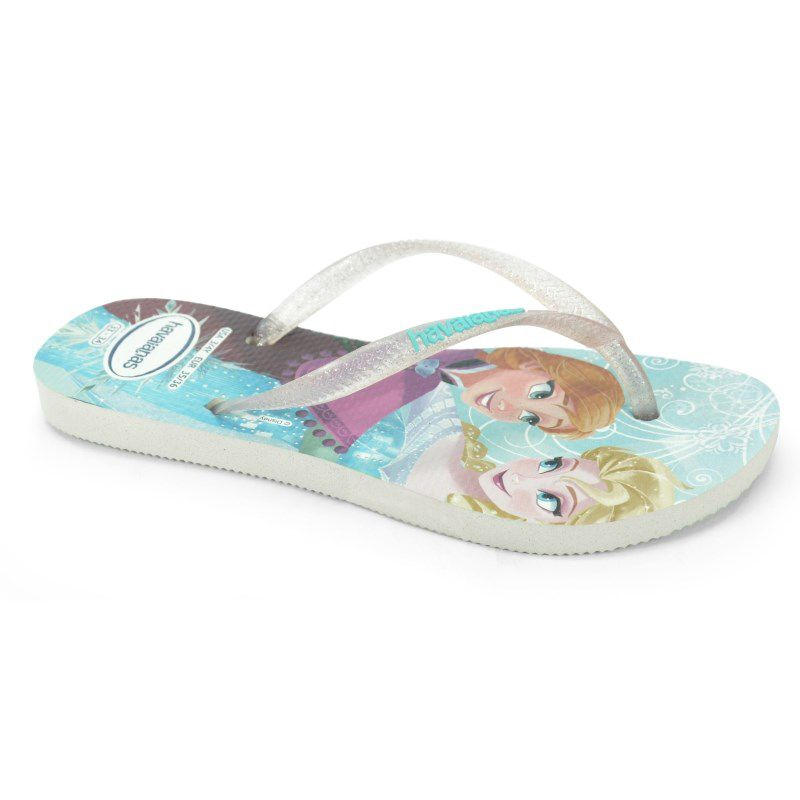Chinelo Infantil Havaianas Kids Slim Princess Branco - 4123328