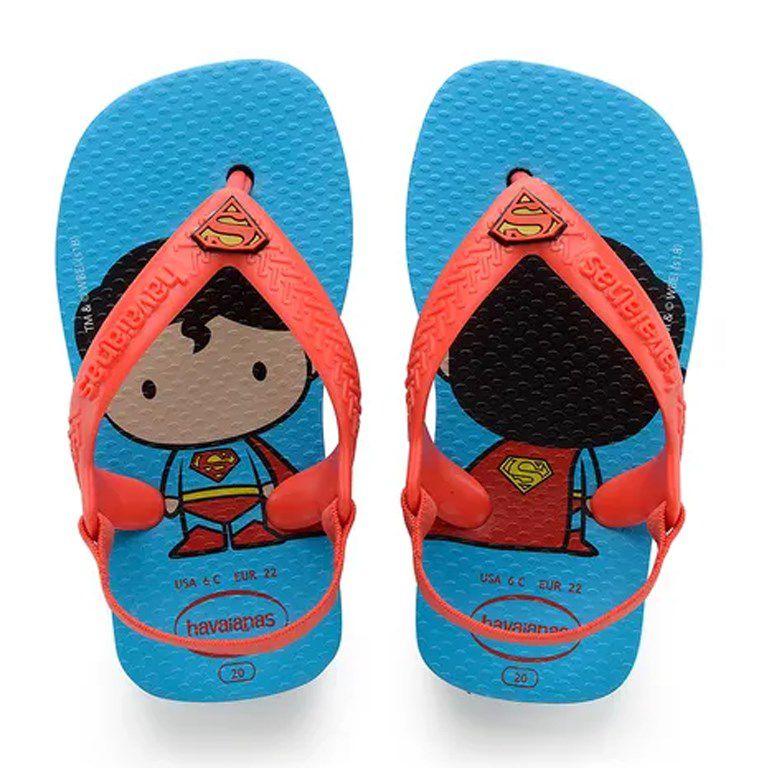 Chinelo Infantil Havaianas New Baby Herois Turquesa Morango - 4139475