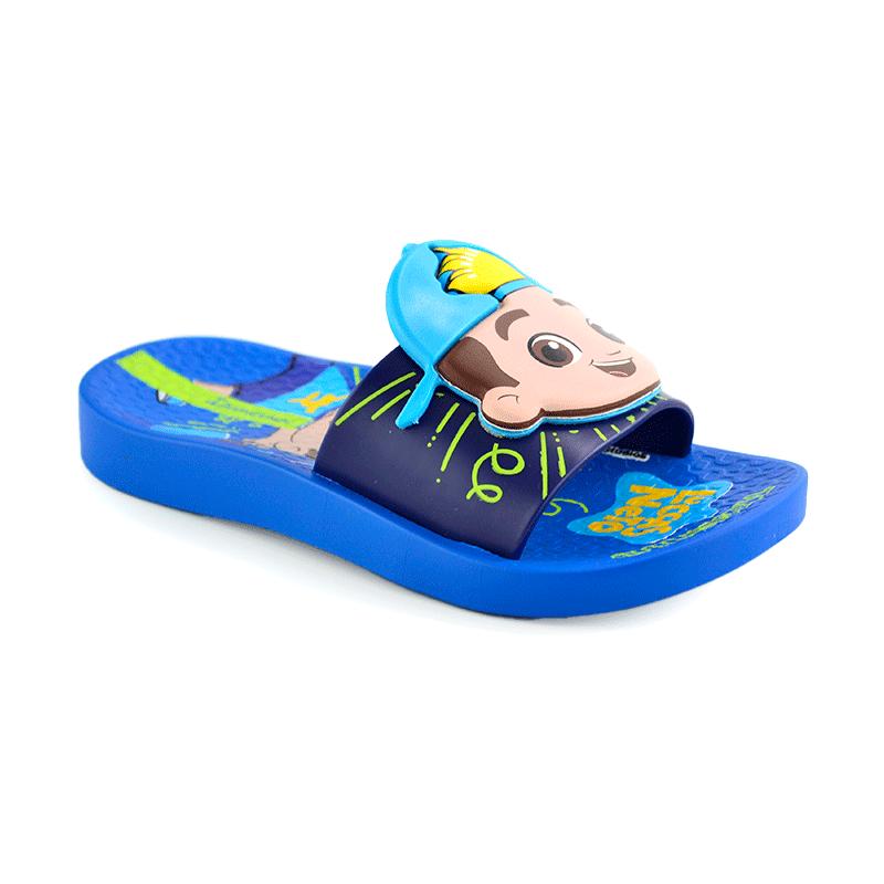 Chinelo Luccas Neto Slide Azul Azul - 26497