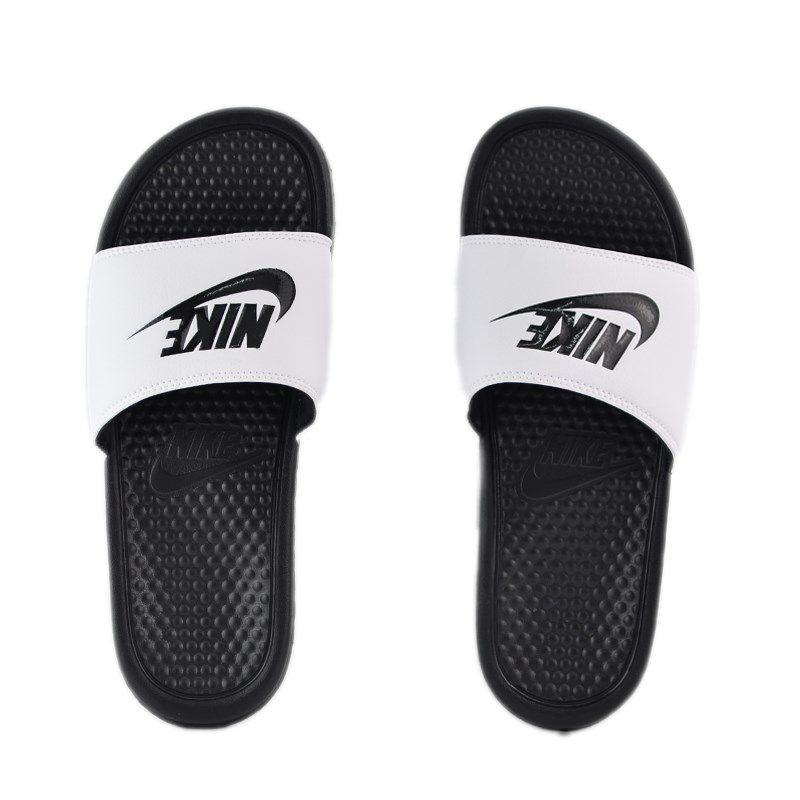 Chinelo Nike Benassi Jdi Branco Preto - 343880-100