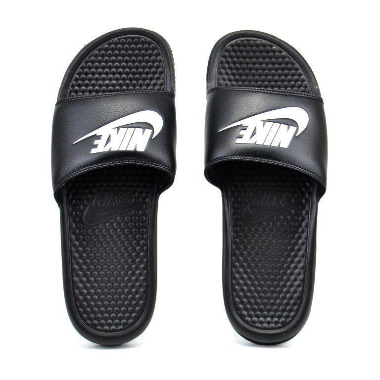 Chinelo Nike Benassi Jdi Preto Branco - 343880-090