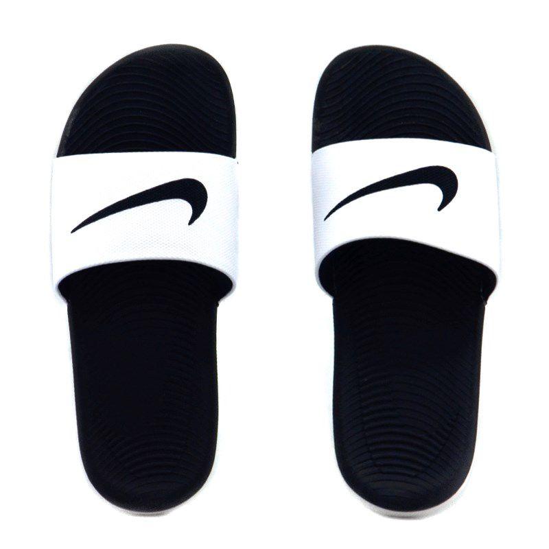 Chinelo Nike Kawa Slide Branco Preto - 832646 - 100