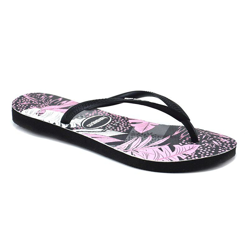 Chinelo Slim Surf Floral