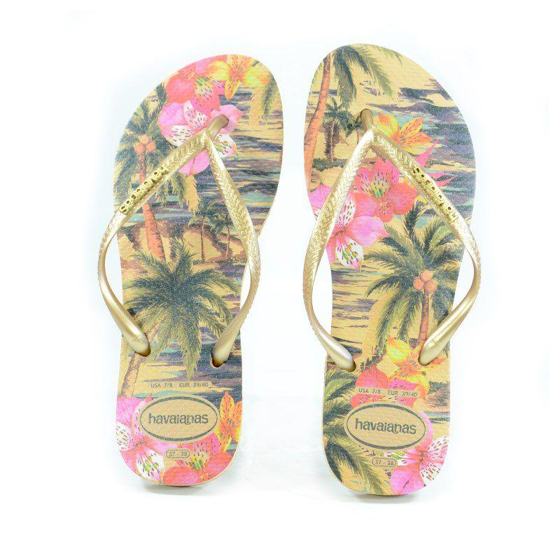 Chinelo Slim Tropical