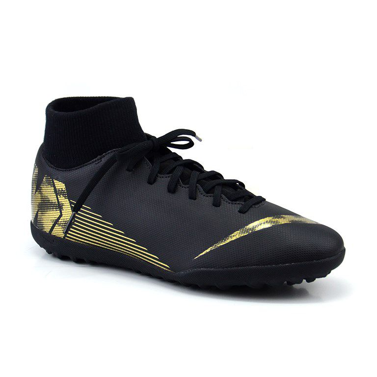 Chuteira Nike Society Superfly 6 Club Tf Preto Ouro - Ah7372-077