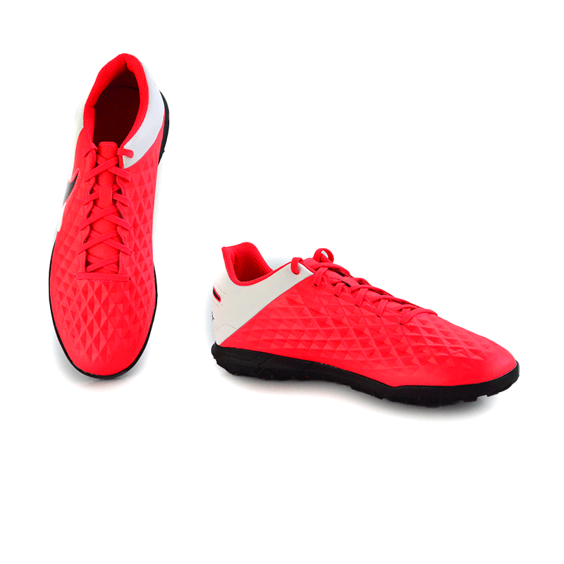 Chuteira Society Nike Legend 8 Laranja Preto Branco - At6109-606