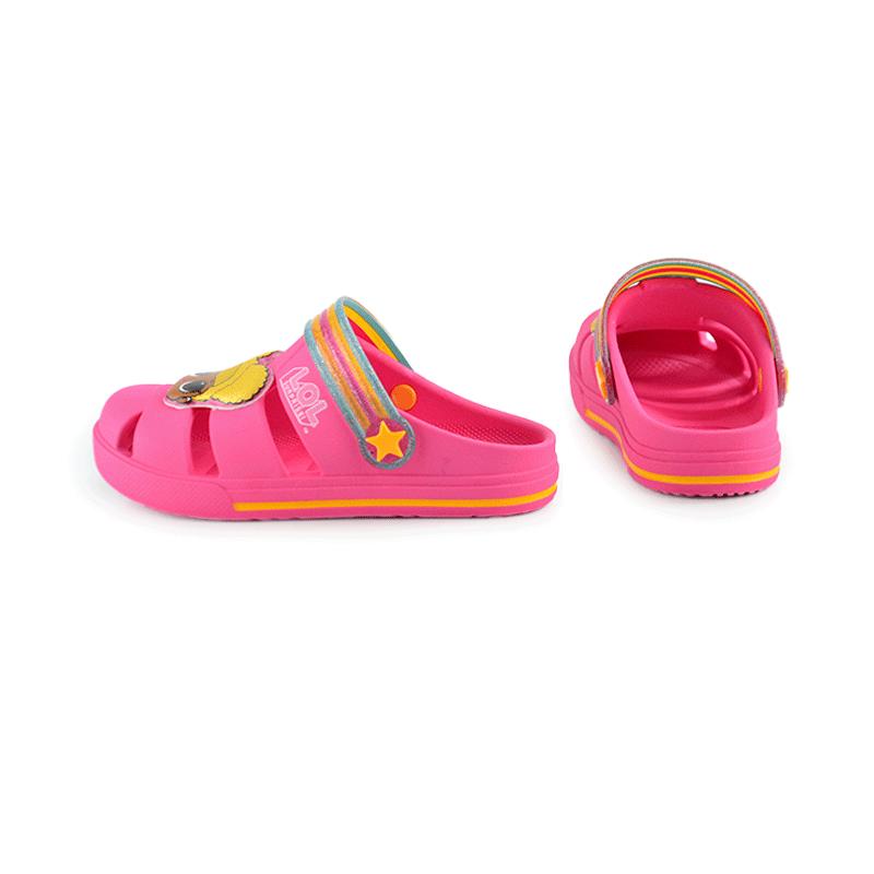 Clog Grendene Lol Hype Infantil Meninas Rosa Amarelo-22185