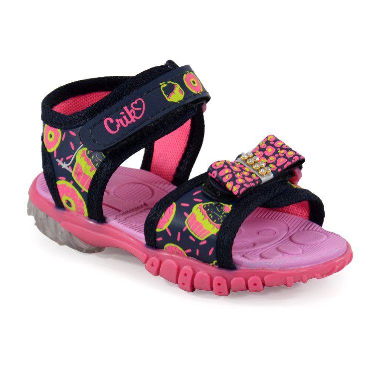 Papete Crik Infantil Meninas Marinho Pink-1711fb
