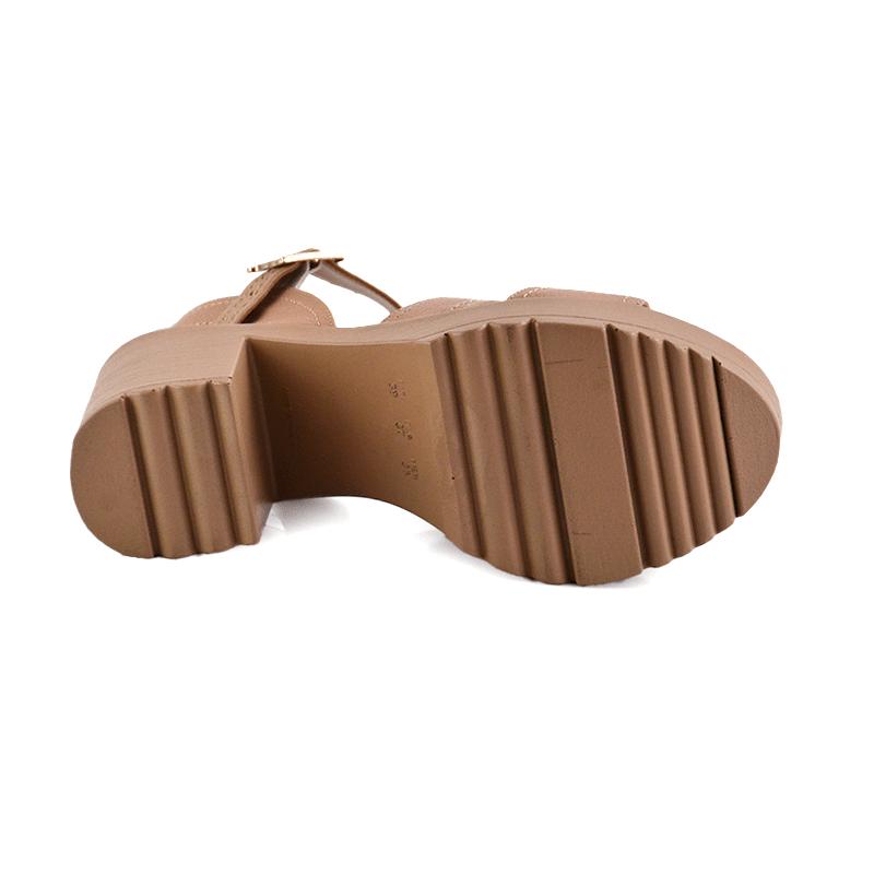 Sandalia Divalesi Salto Alto Infantil Meninas Floater Nude-39065