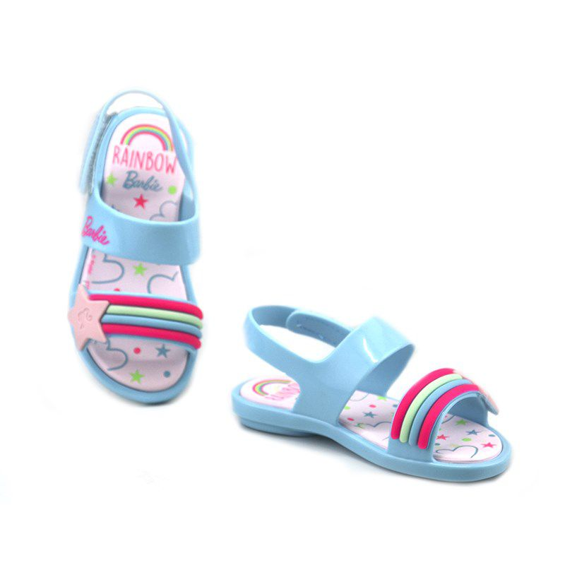 Sandalia Grendene Barbie Beauty Baby  Infantil Meninas Azul Rosa-22073