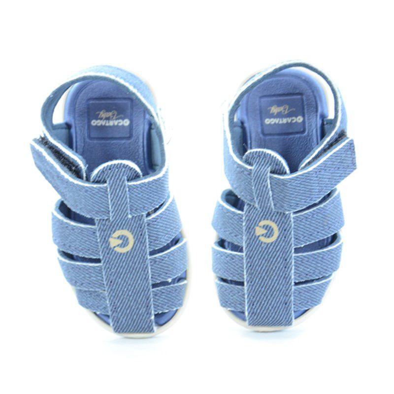 Sandalia Grendene Infaltil Menino Cartago Meus Primeiros Passos Bege Azul-11210