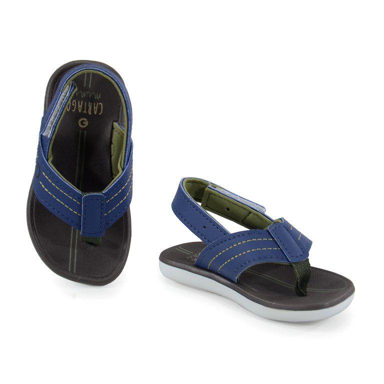 Sandalia Infantil Cartago Meus Primeiros Passos Branco Azul Verde  - 11258