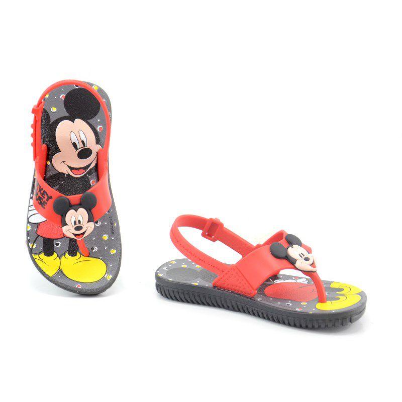 Sandalia  Infantil Grendene Disney Friends Preto Vermelho - 21988
