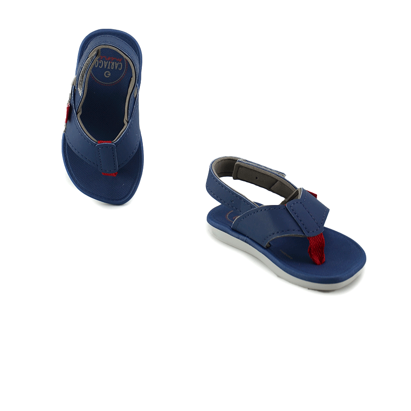 Sandalia Infantil Menino Cartago Meus Primeiros Passos Cinza Azul - 11400