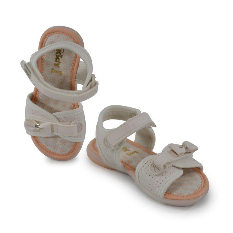 Sandalia Kidy Baby Equilibrio Infantil Meninas Marfim-0020619
