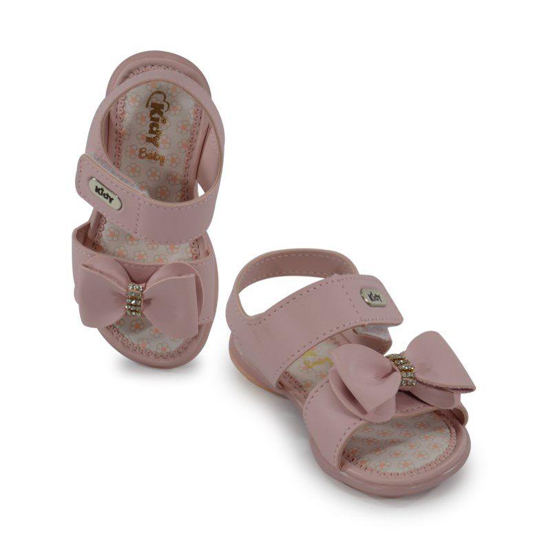 Sandalia Kidy Baby Equilibrio Infantil Meninas Nude-0020636