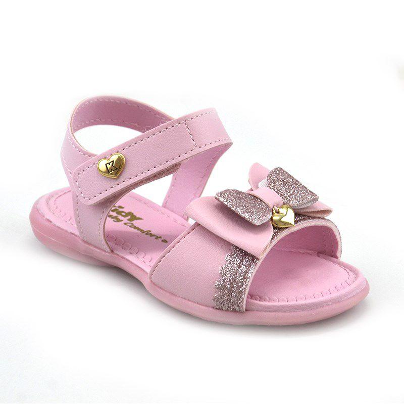 Sandalia Kidy Baby Equilibrio Infantil Meninas Rosa-0020693